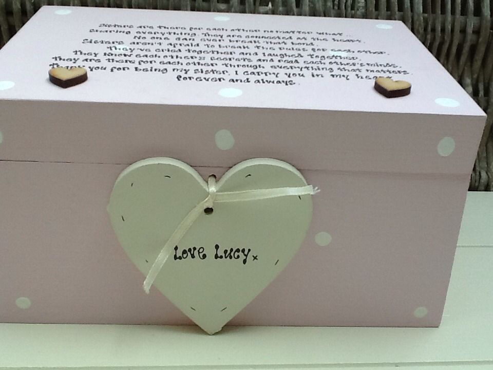 shabby chic special best sister keepsake extra large gift box